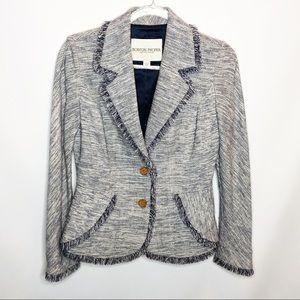 Boston Proper blue tweed blazer size 4